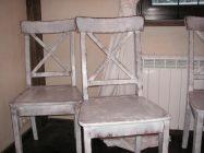 Как покрасить стулья белой краской под старину