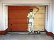 Чем покрасить гаражные ворота снаружи