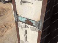 Как закрепить металлическую дверь в газобетоне