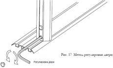 Регулировка раздвижных дверей шкафа купе
