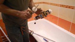 Можно ли клеить плитку на акриловую ванну