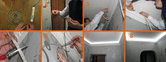 Как правильно смонтировать светодиодную ленту на потолке